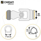 Joint de cardan Benzi complet tube triangle 63x4 - 1-3/4 Z6