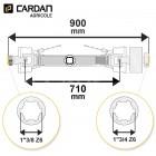 Transmission cardan agricole 90 Cv 0,9 mt Bondioli avec limiteur automatique