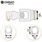 Joint de cardan Benzi complet tube citron 23,5x31 - 1-3/8 Z6