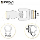 Joint de cardan Benzi complet tube citron 34,5x40 - 1-3/8 Z6