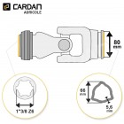 Joint de cardan Benzi complet tube triangle 66x5,6 - 1-3/8 Z6