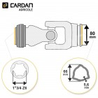 Joint de cardan Benzi complet tube triangle 66x5,6 - 1-3/4 Z6