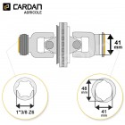 Joint de cardan grand angle Benzi complet tube citron 41x48 - 1-3/8 Z6