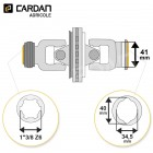 Joint de cardan grand angle Benzi complet tube citron 34,5x40 - 1-3/8 Z6