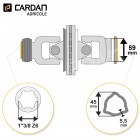 Joint de cardan grand angle Magdalena complet tube triangle 45x5,5 - 1-3/8 Z6