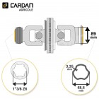 Joint de cardan grand angle Bondioli complet tube free rotation 58,5x3,35 - 1-3/8 Z6