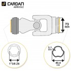 Joint de cardan Bondioli complet tube free rotation 40,4x3,1 - 1-3/8 Z6