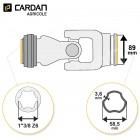 Joint de cardan Bondioli complet tube free rotation 58,5x3,6 - 1-3/8 Z6