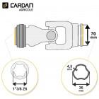 Joint de cardan Bondioli complet Free rotation intérieur 36x4,5 - 1-3/8 Z6
