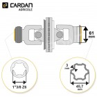Joint de cardan grand angle Comer complet tube multilobes 45,7x3 - 1-3/8 Z6