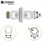 Joint de cardan grand angle Comer complet tube multilobes 66,5x4 - 1-3/8 Z6