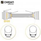 Protecteur de cardan grand angle série SFT S4 BONDIOLI Lg 1210 mm - 22x86 tube Free rotation